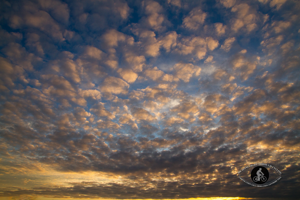 Clouds at sunset ove Pennybank Camping grounds - County Wexford