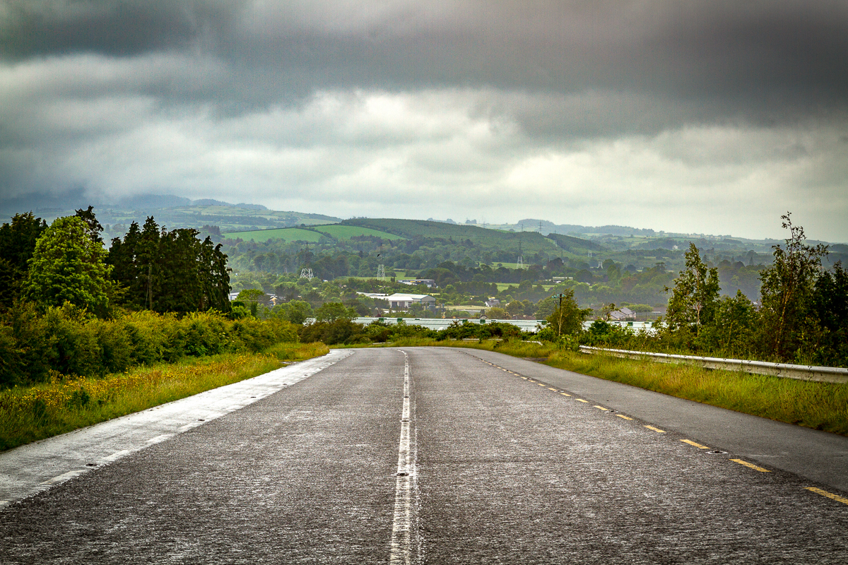 Down the road to Wicklow mountains