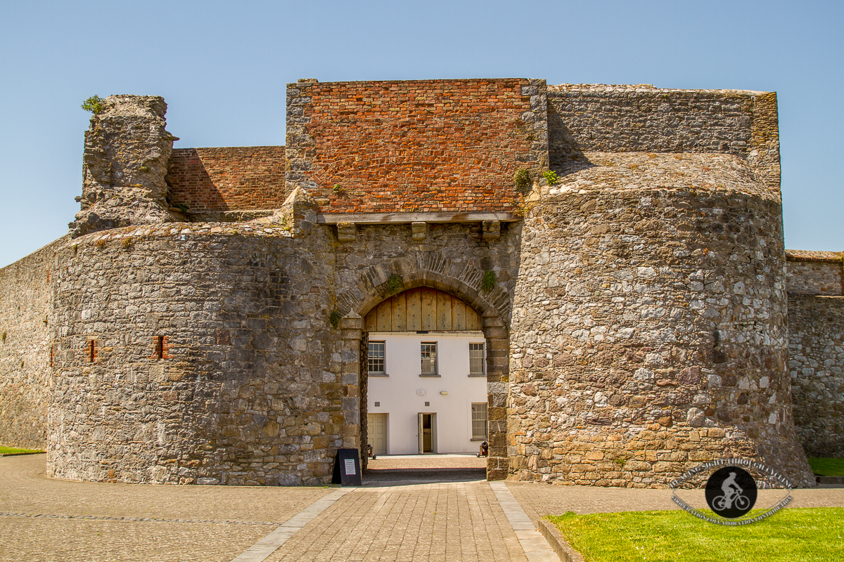 Dungarvan castle doors from the outside