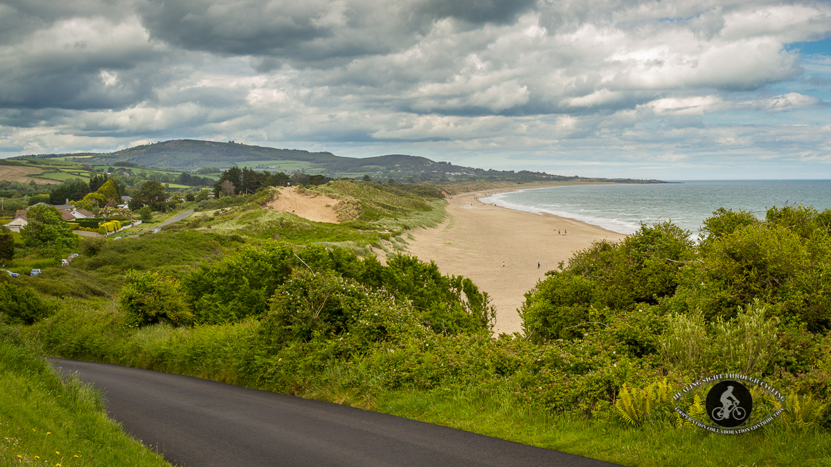 Ennereilly Beach County Wicklow - from the road above