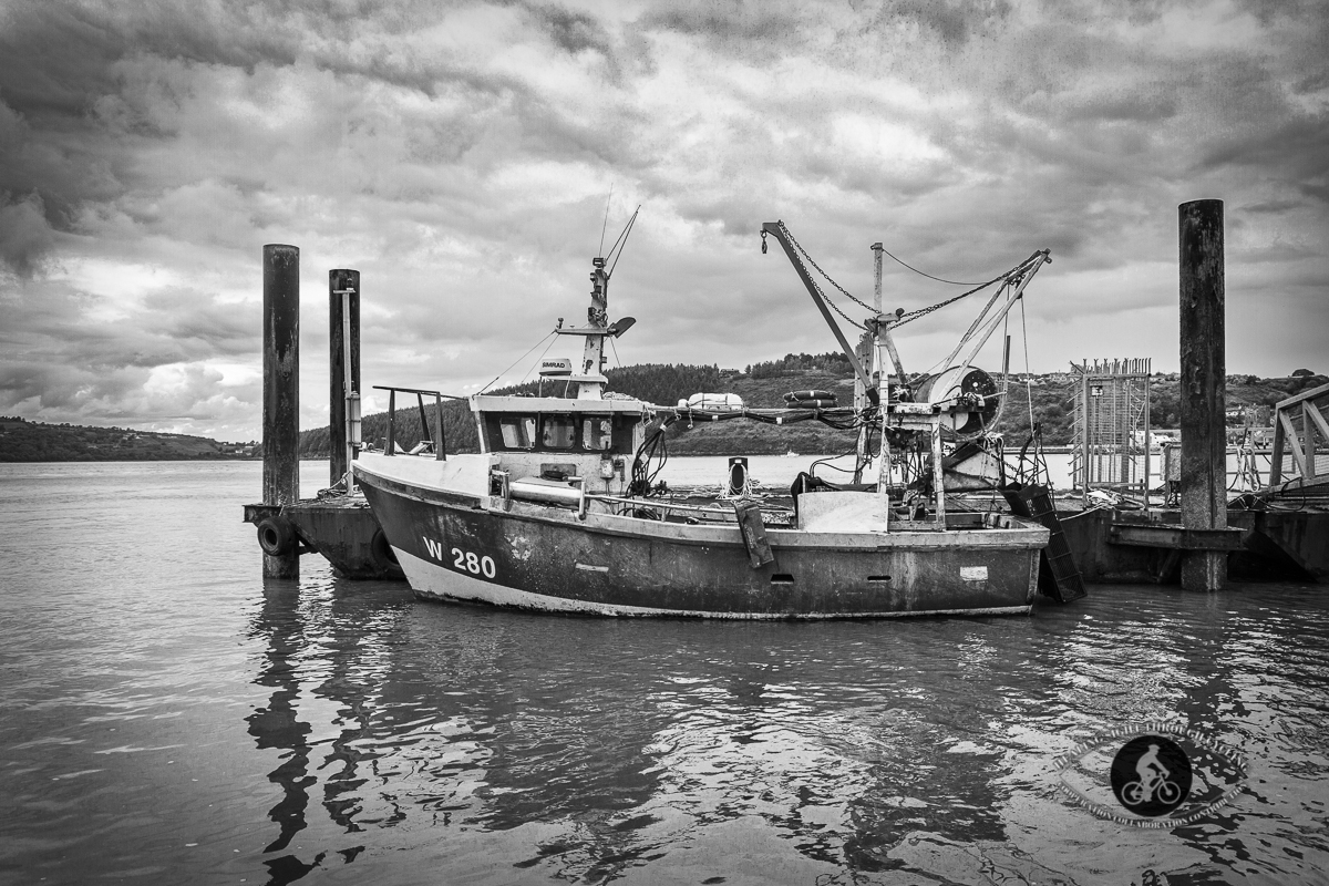 Fishing trawler in Passage Easst Harbour - County Waterford - BW