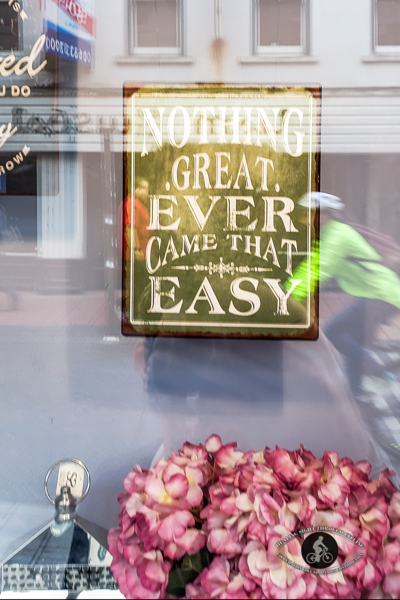 Nothing great ever came that easy - Cork