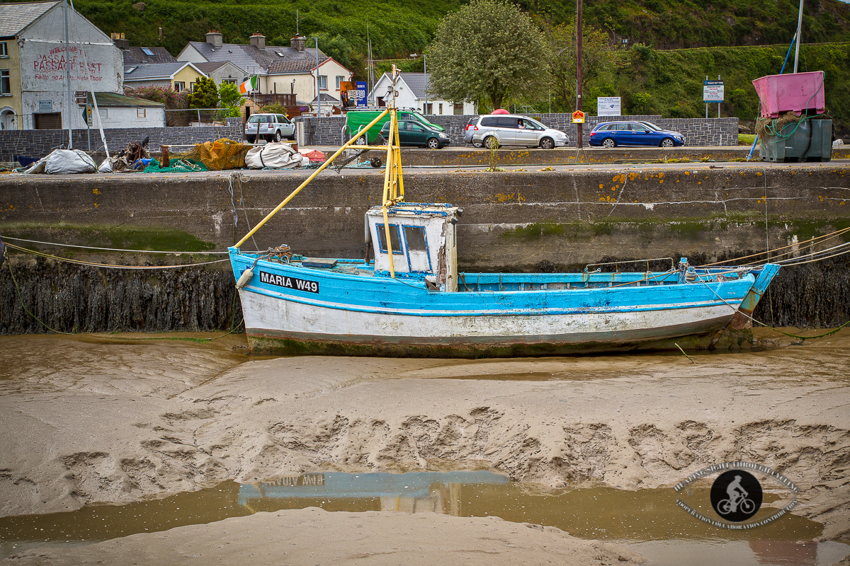 Old boat in the Passage East harbour - County Waterford