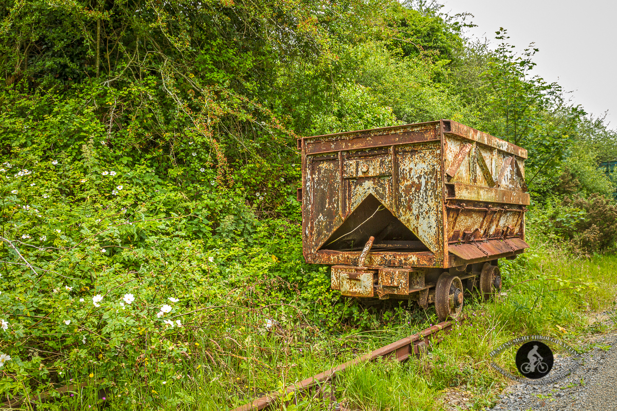 Old cart on the defunct track - Waterford Greenway