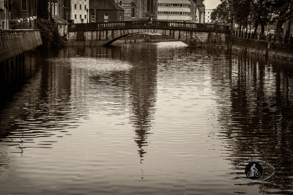Reflections in River Lee - Cork City - County Cork - Sepia