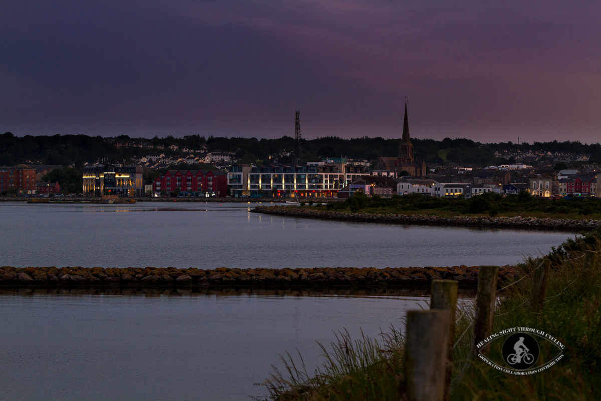 Wexford town at twilight over the river - County Wexford