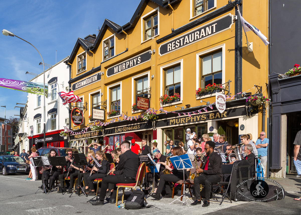 Band in front of Murphys Bar - 2