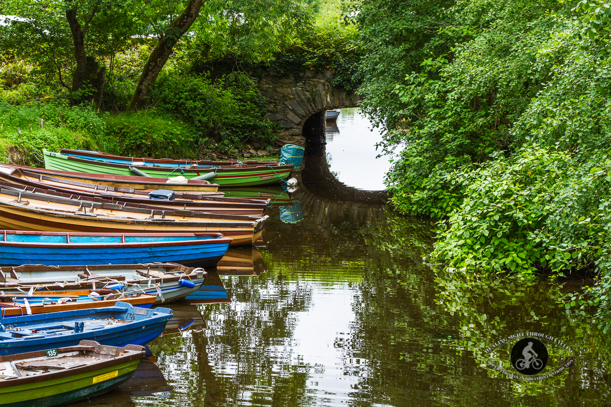 Boats by an arched bridge - Castle Ross Killarney - County Kerry