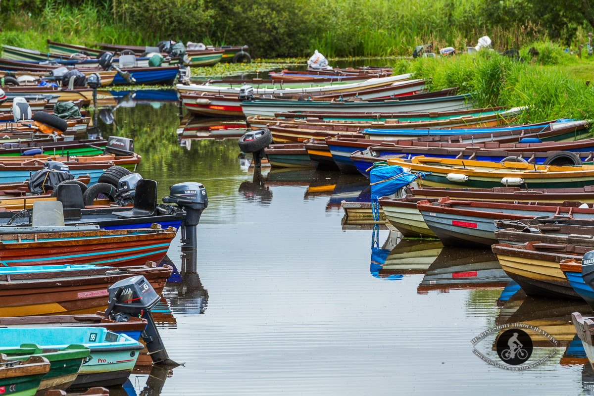 Boats in the water at Ross Castle Killarney - County Kerry