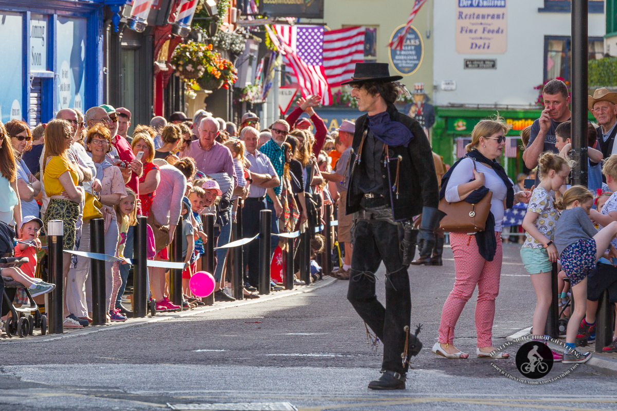 Cowboy in front of crowd