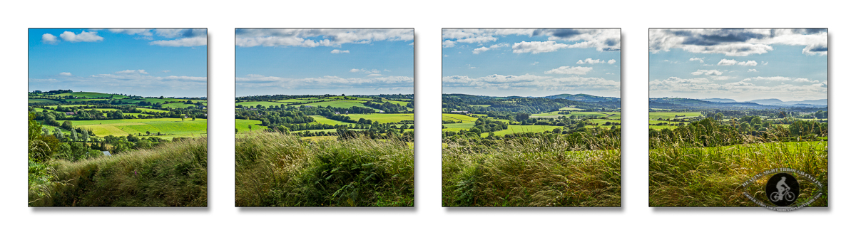 Hills and fields in County Cork - Panorama - 2 - quadtych