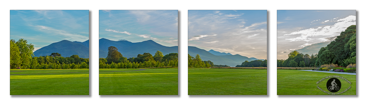 Kerry Mountains from Killarney House Gardens - County Kerry - Quadtych