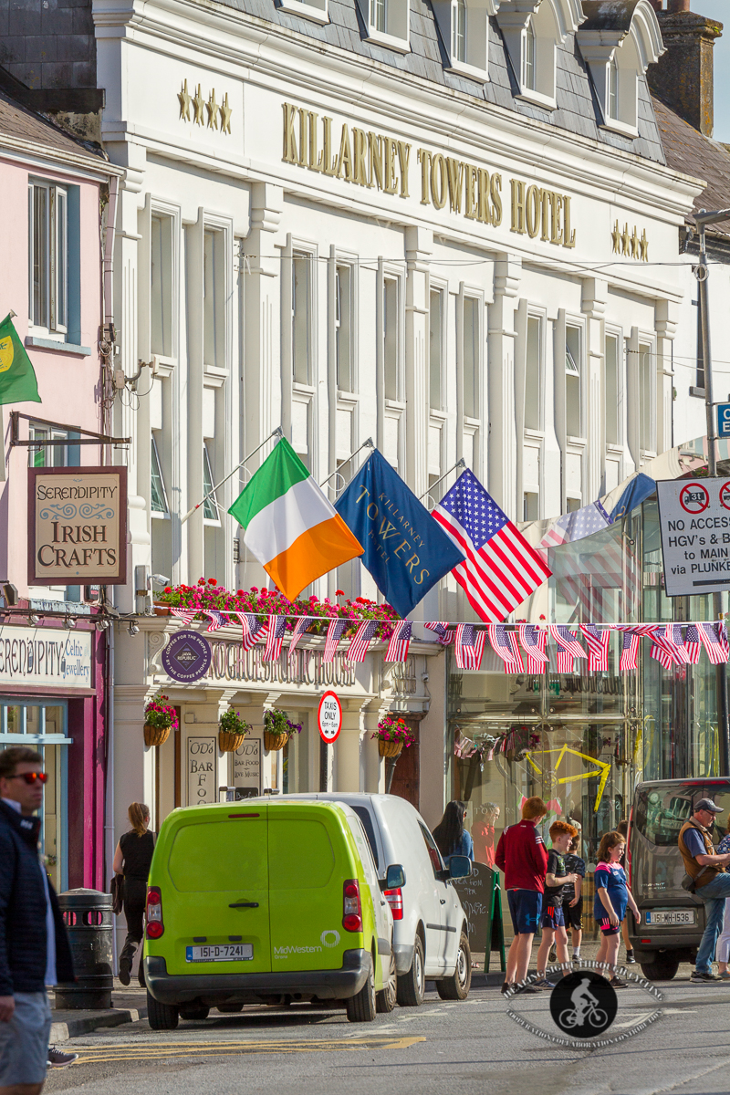 Killarney Towers Hotel with flags