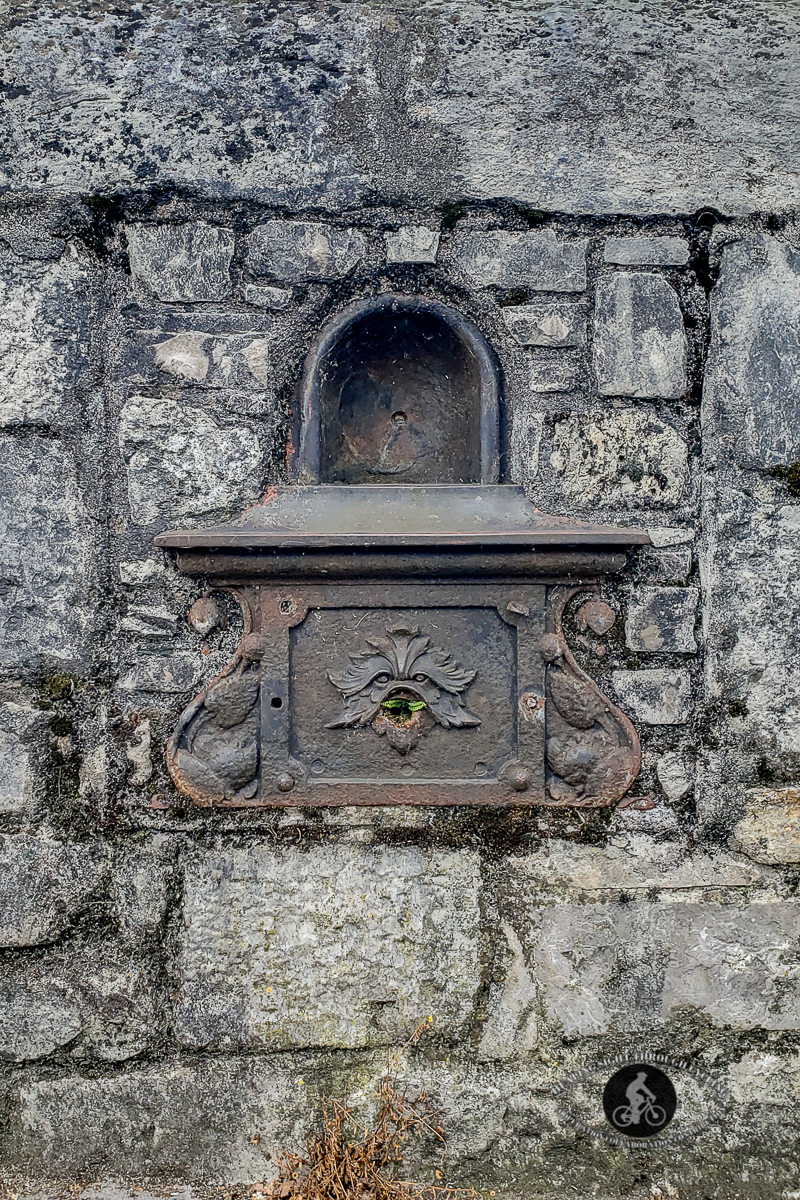 Old metal box in the wall on the River Lee - Cork City - County Cork