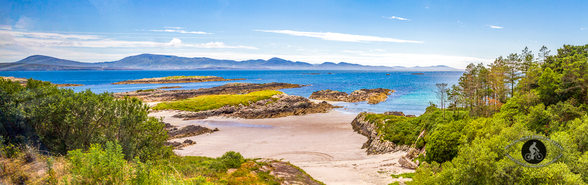 Panorama of beach - Ring of Kerry - empty