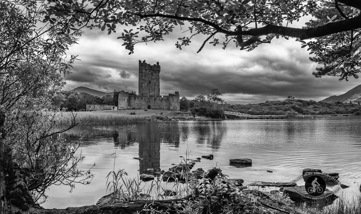 Ross Castle - Killarney - County Kerry - Panorama From the other side of the lake - BW