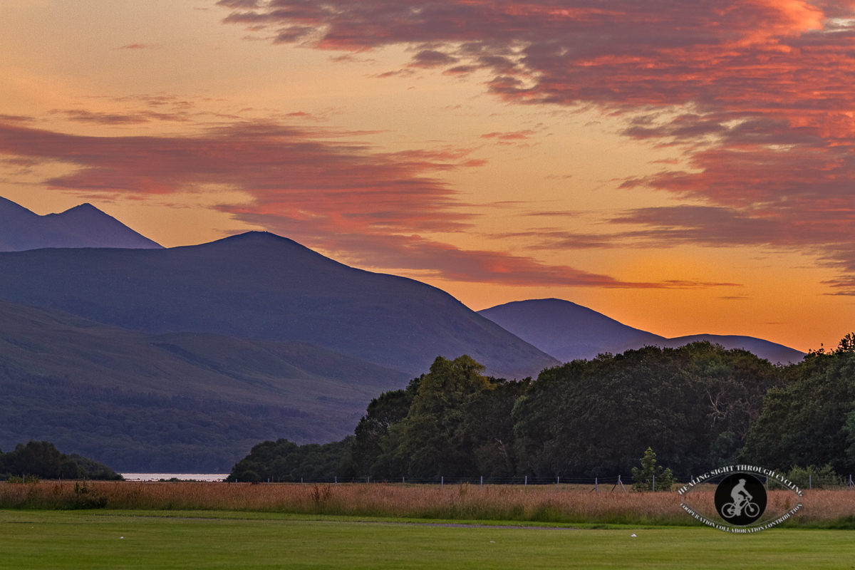 Sunset over Kerry Mountains