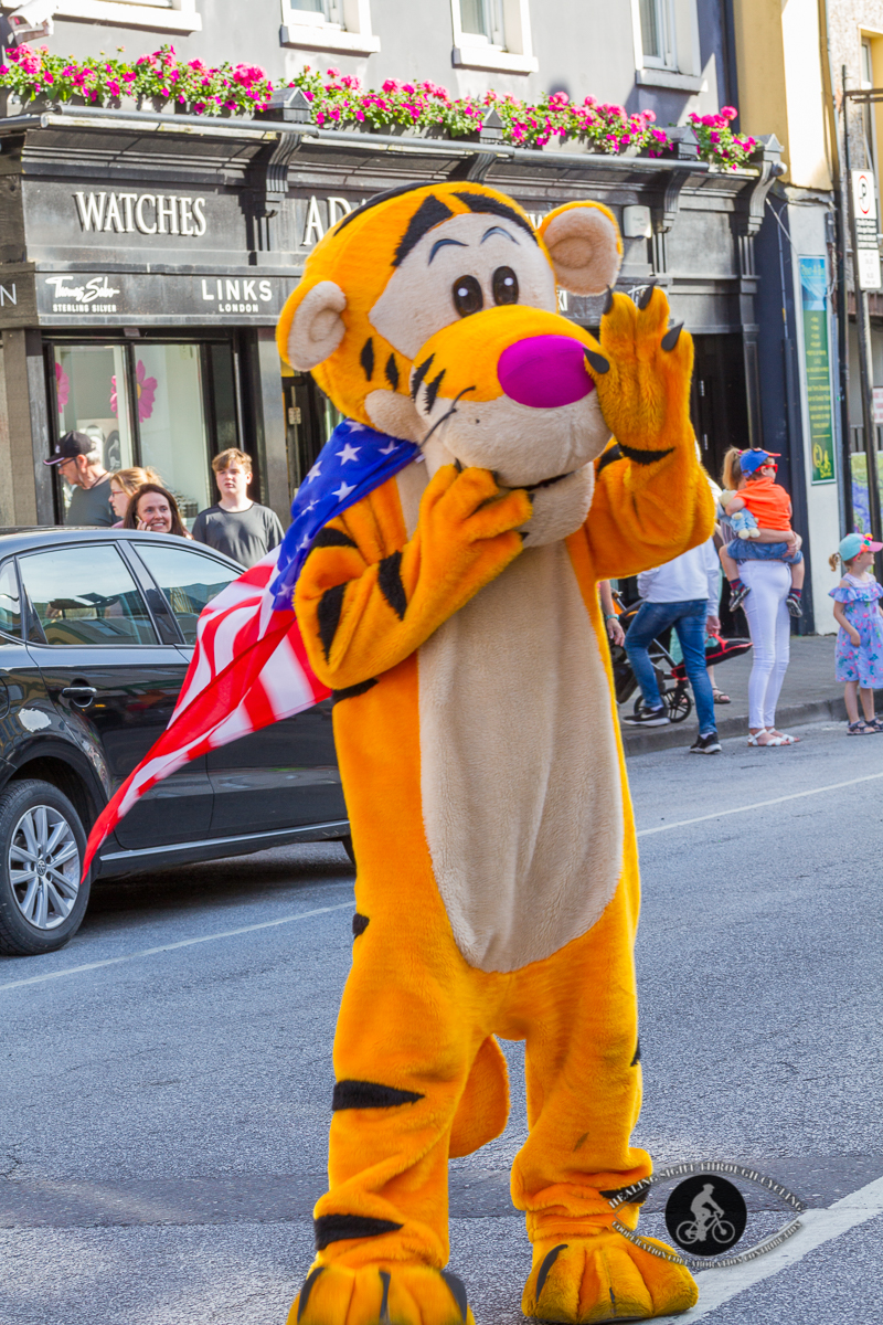 Tigger with a US flag