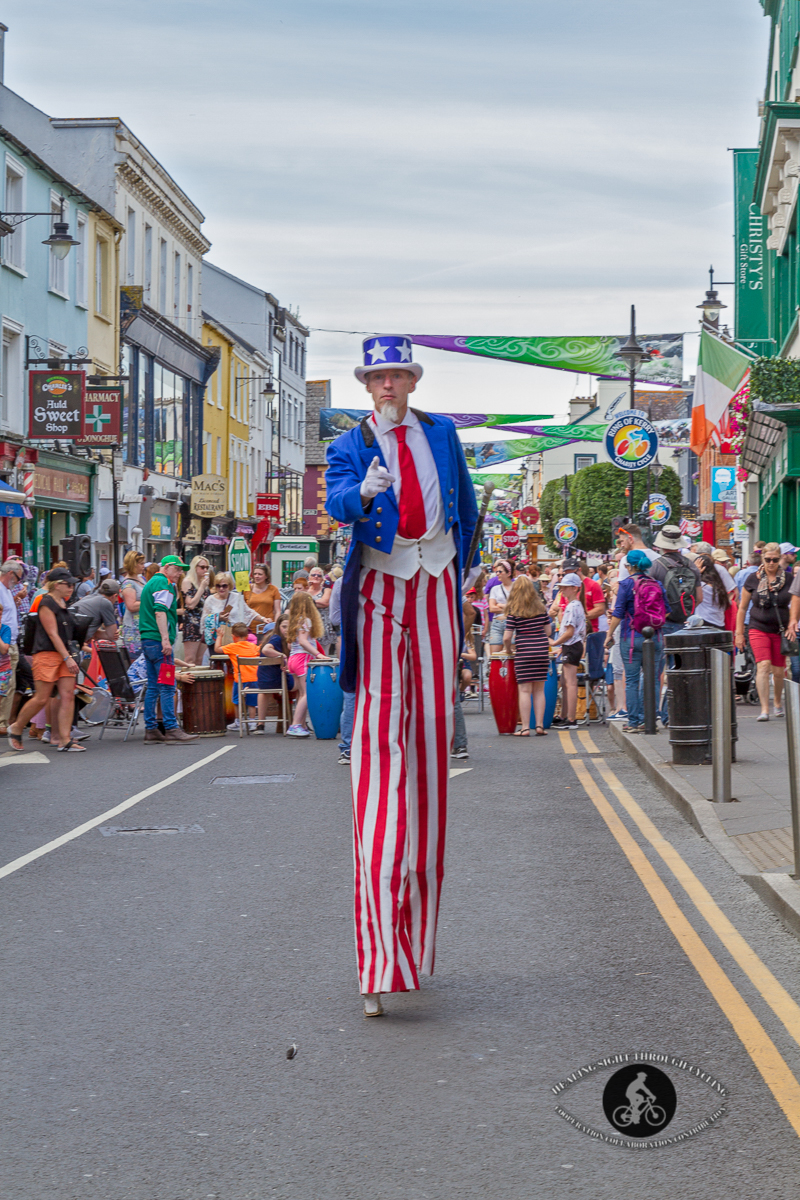 Uncle Sam - on stilts