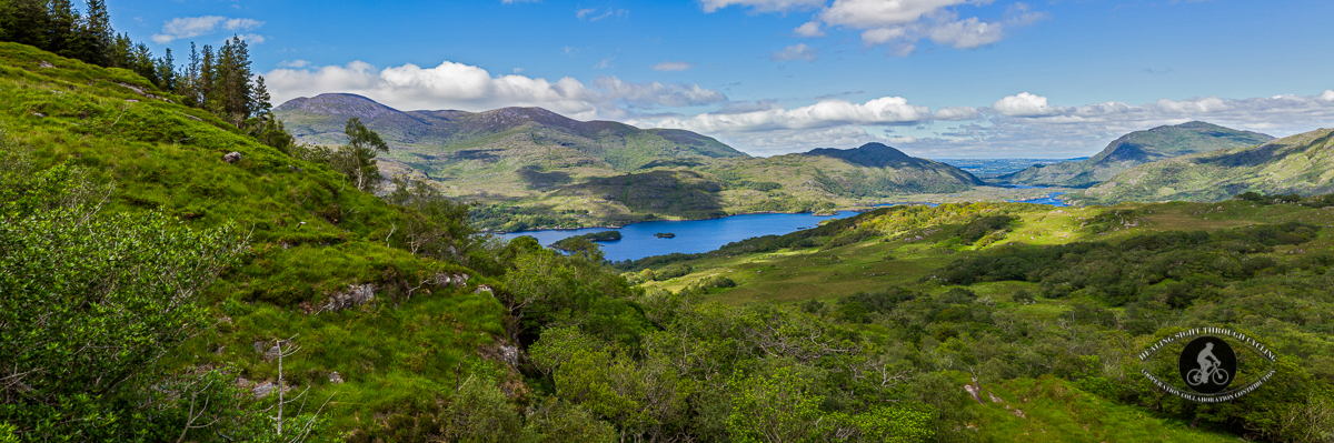 Upper lake from Ladies View - Ring of Kerry - Panorama - 2