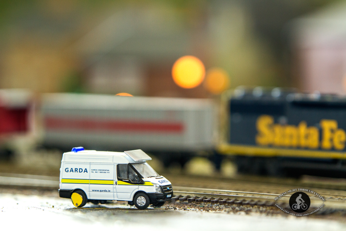 Blennerville Windmill - miniature train tracks - Garda vehicle clamped