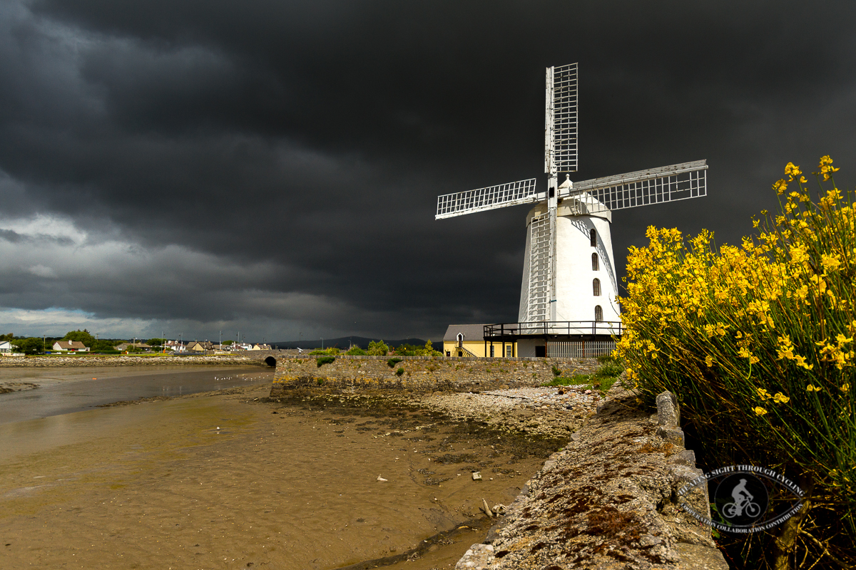 Blennerville Windmill under stormy clouds - landscape