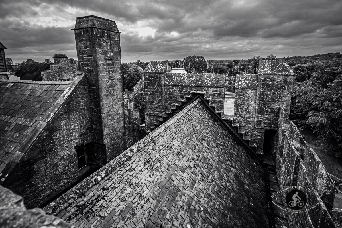 Bunratty Castle Roof Top - BW