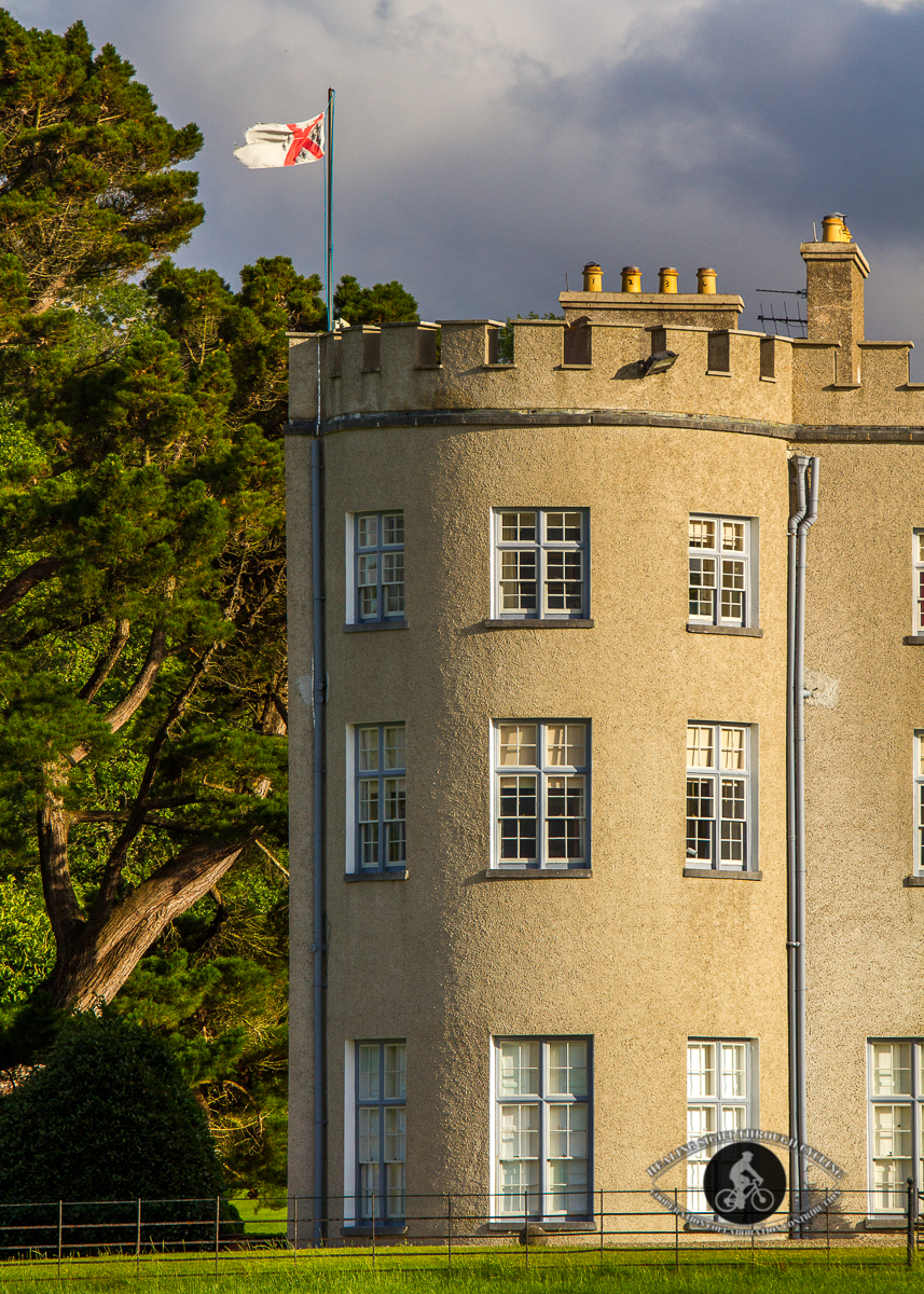 Glin Castle - Tower and flag