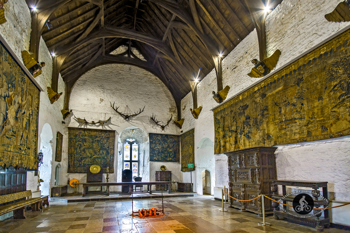 Inside Bunratty Castles Throne room