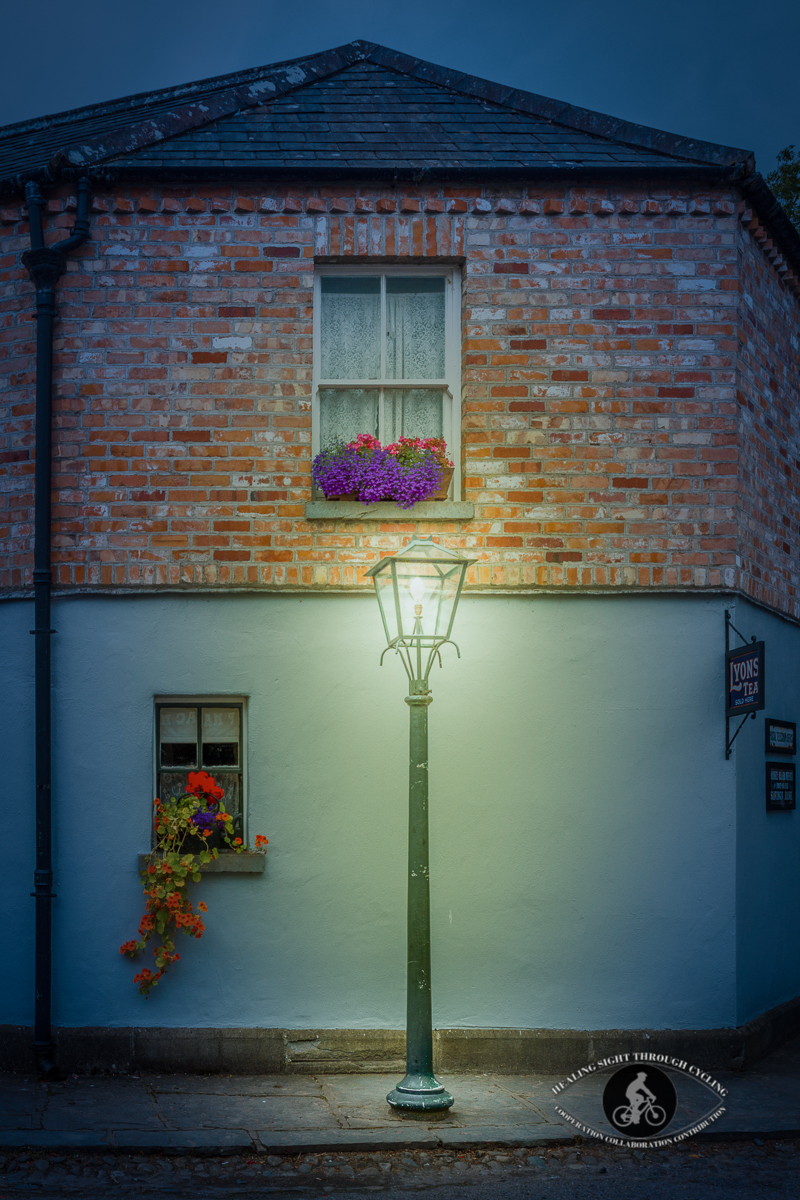 Old building in Bunratty Castle Village - night time