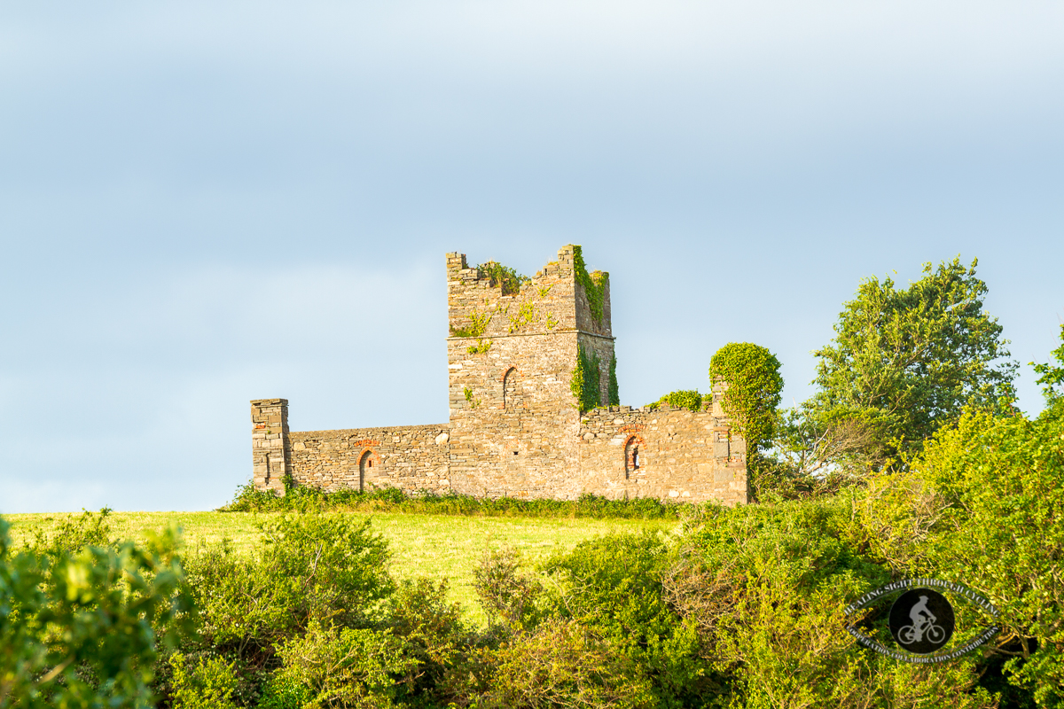 Unknown castle on hilltop - Coast Road - County Limerick