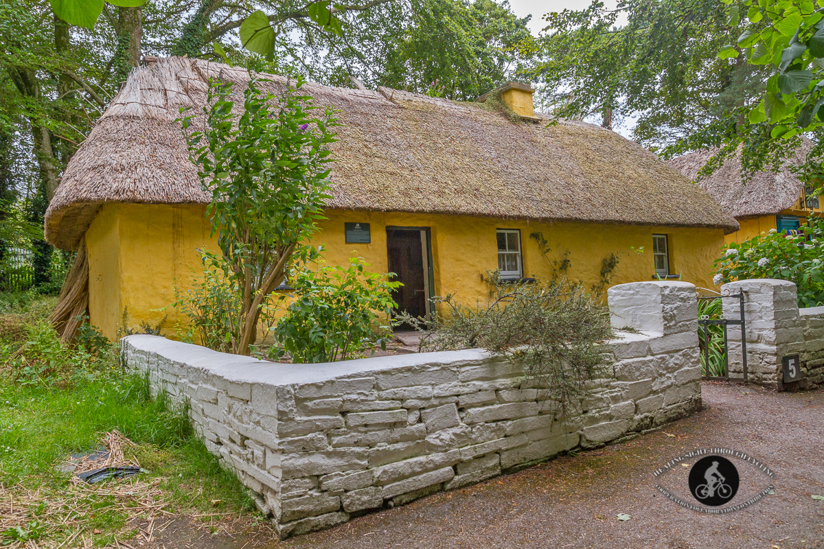 Yellow thatched roof cottage