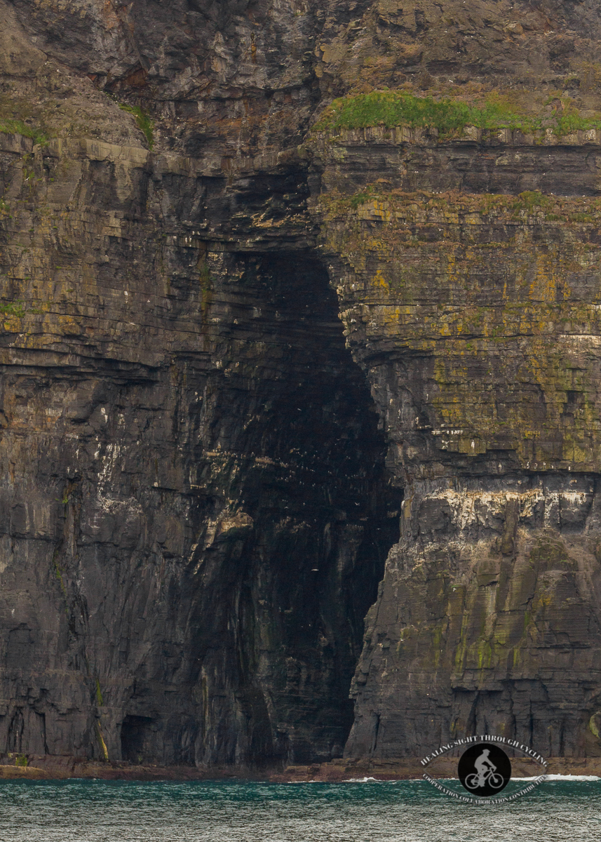 Cave in the Cliffs of Moher - closer