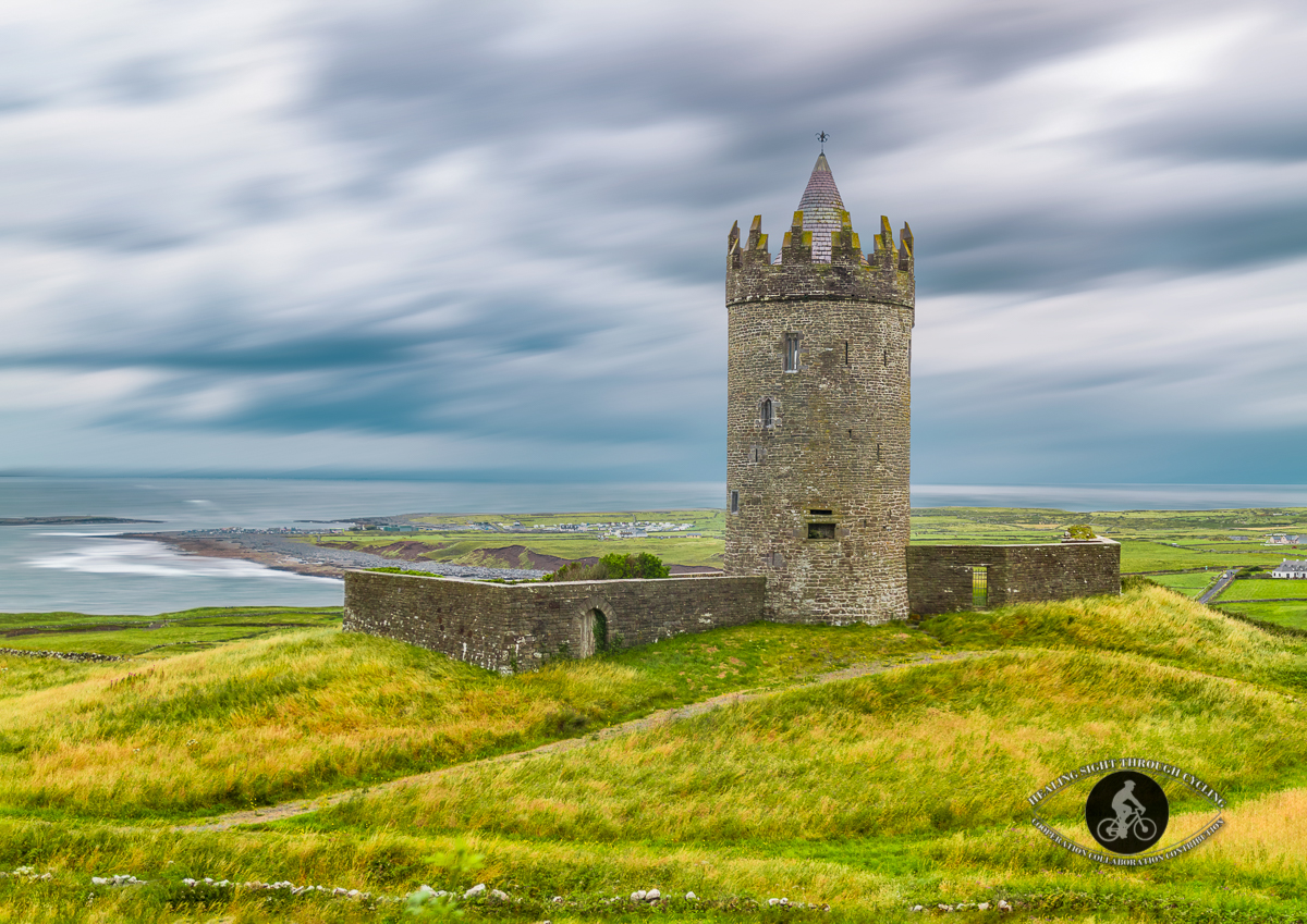 Doonagore Castle - County Clare - long exposure clouds