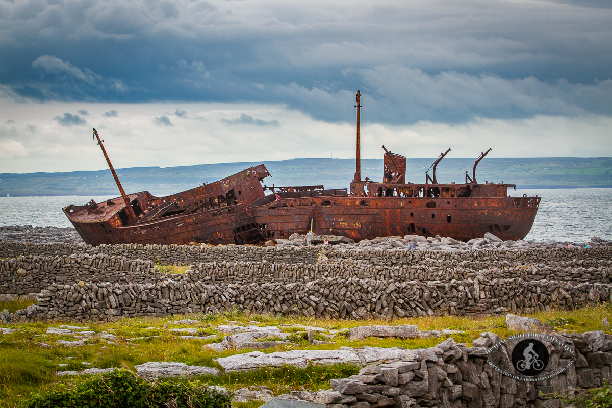 Plassey Shipwreck on Inisheer - from land - 2