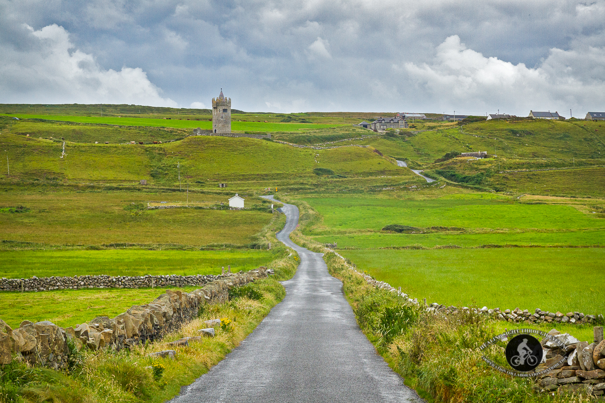 Road leading to Doonagore Castle - County Clare