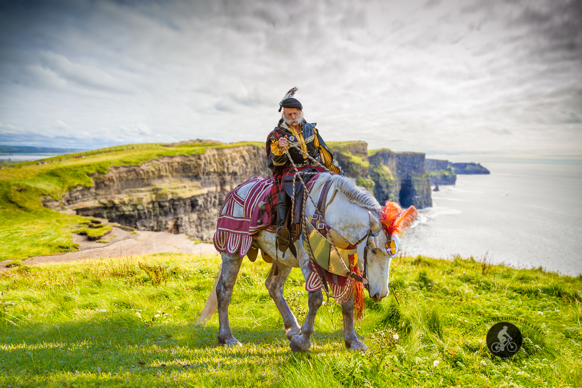Squire on horse with armour - Cliffs of Moher - County Claire