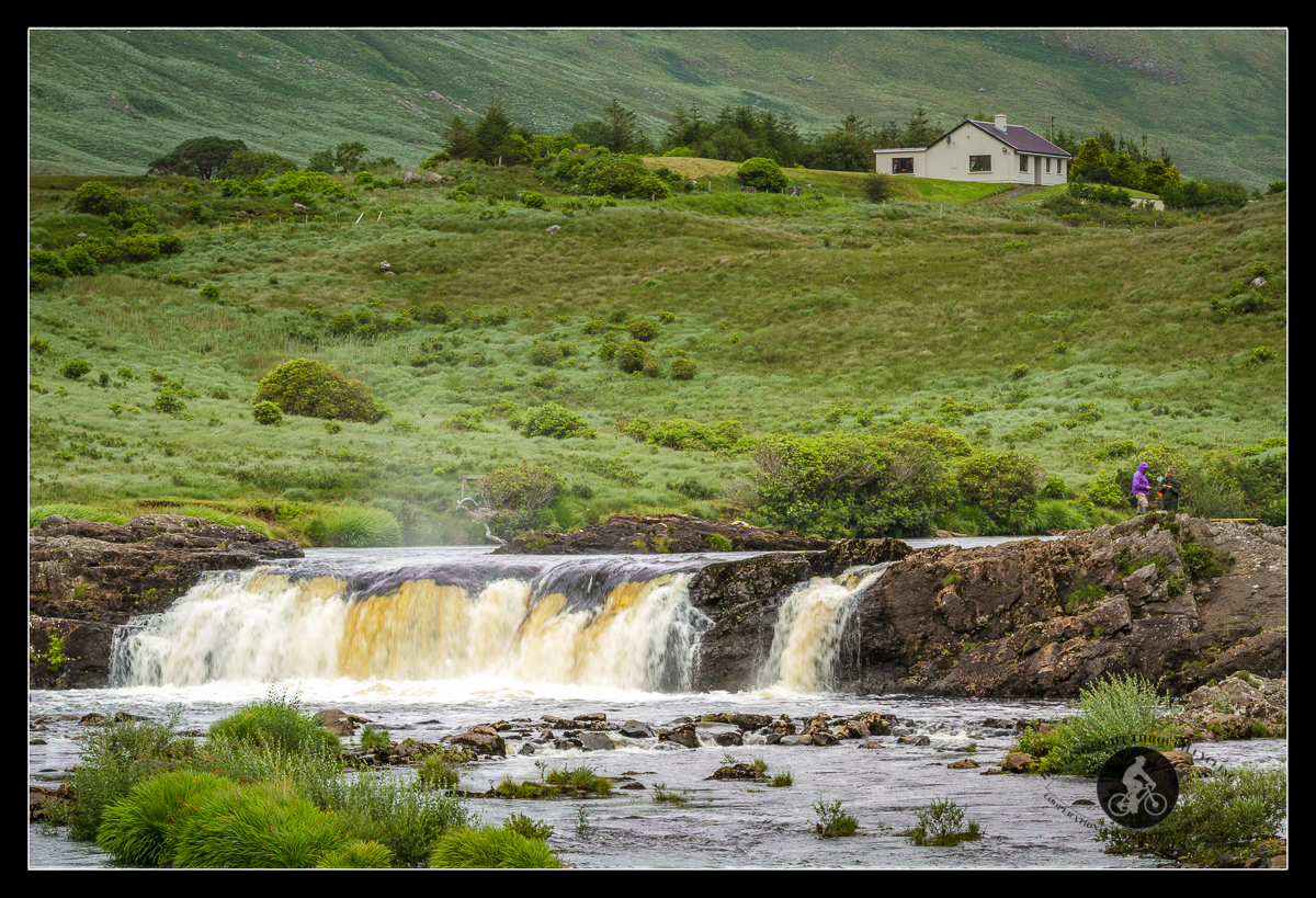 Aasleagh Falls on the Erriff River - County Mayo - soft water