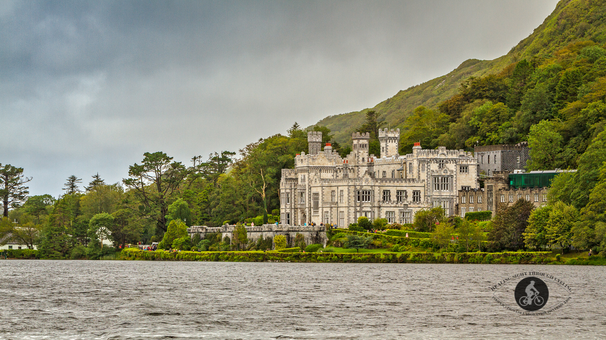 Kylemore Abbey over Pollacapall Lough - County Galway