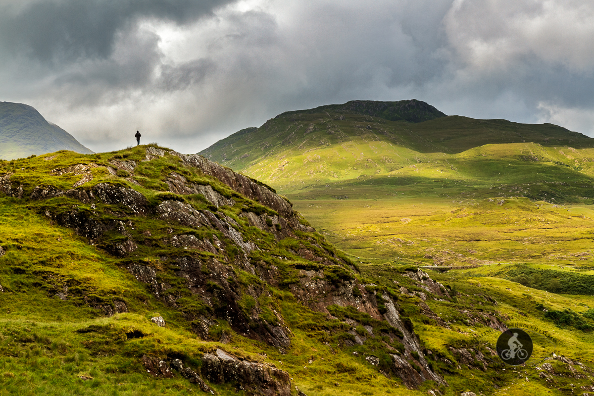 Man on the mountains by Bunowen - County Mayo - 2