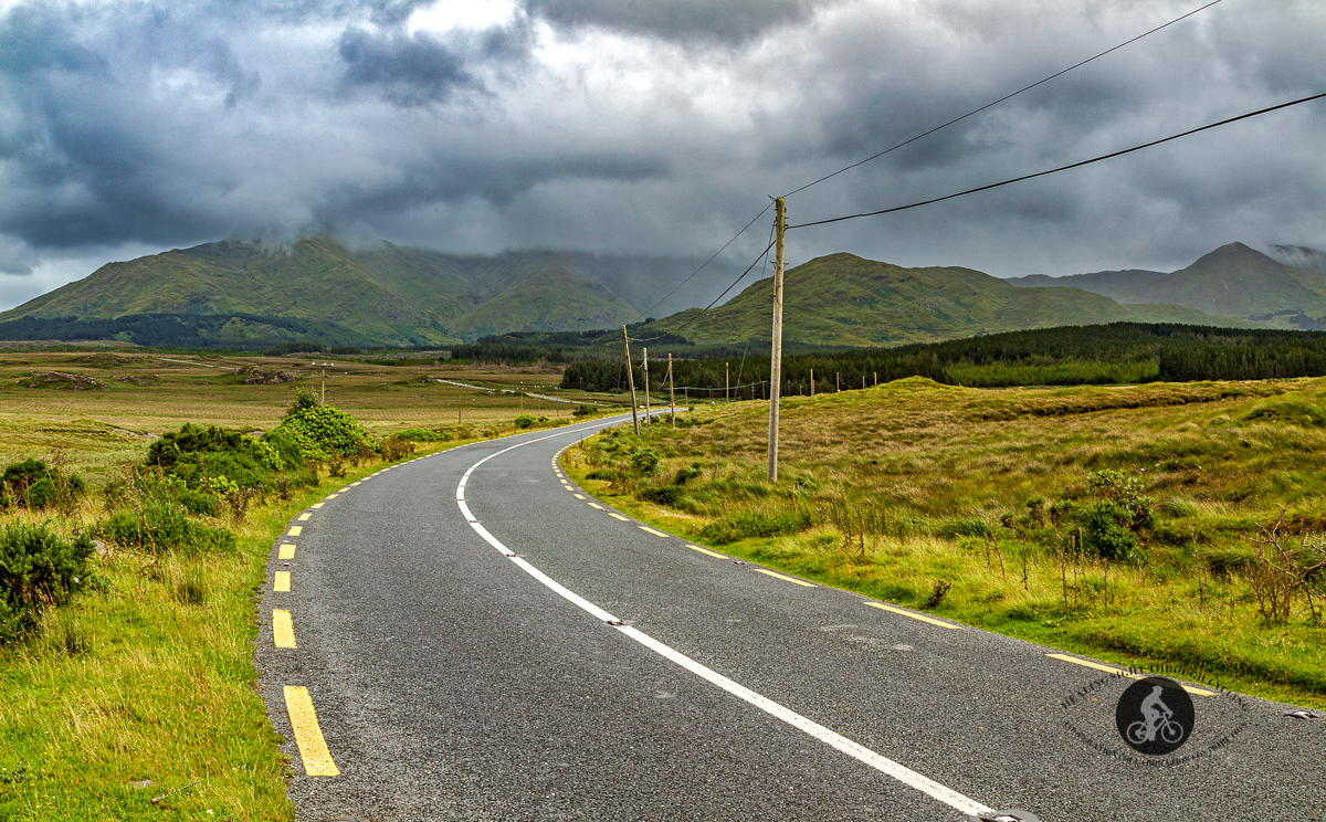 Road leading to the Twelve Bens Mountain Range - County Galway
