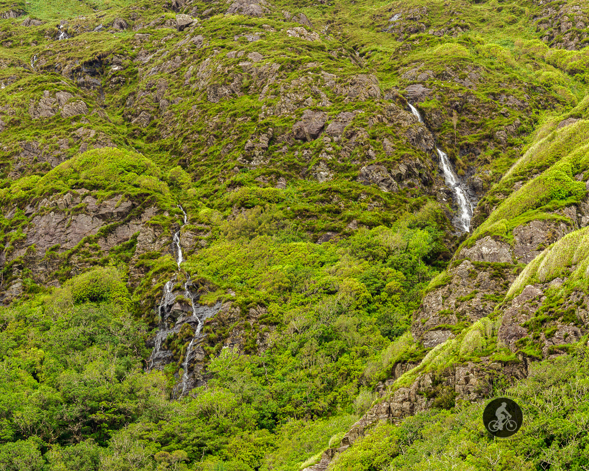 Waterfall behind Kylemore Abbey - County Galway