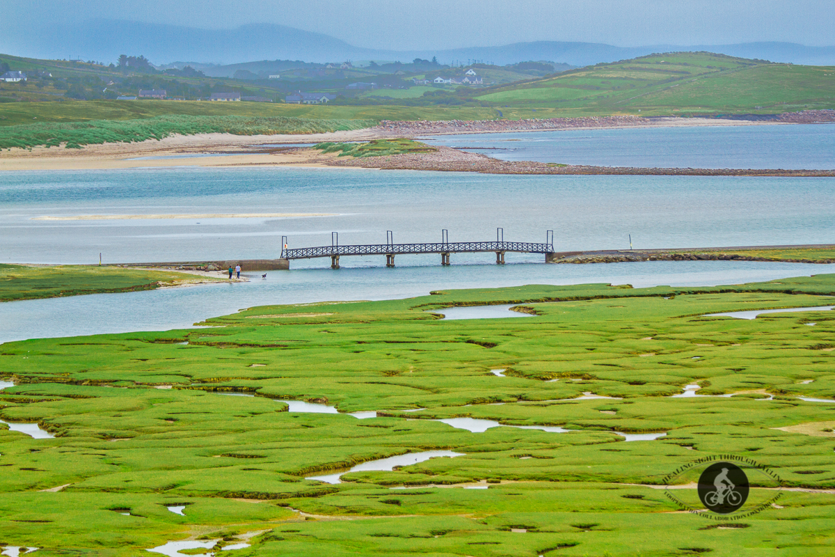 Footbridge on Mulranny Saltmarsh - County Mayo