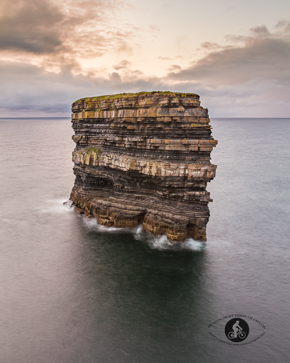Downpatrick Dun Briste Sea Stack late afternoon - North County Mayo