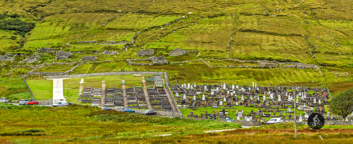 Slievemore Main Cemetery under the Slievemore Deserted Village - County Mayo