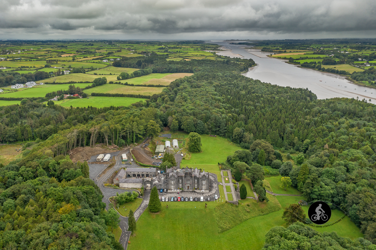 Aerial - Beleek Castle from the air in Ballina County Mayo