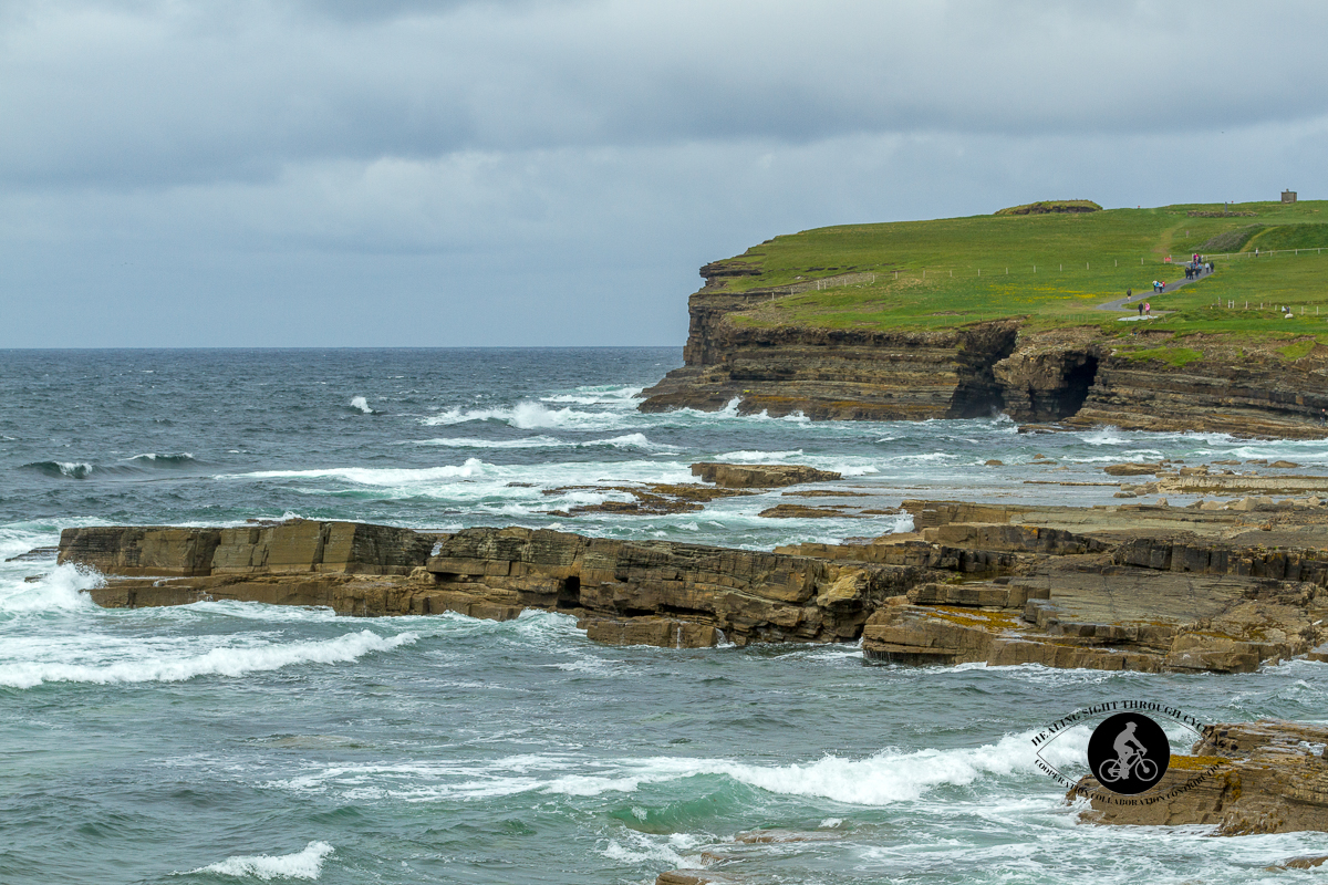 Dun Briste waves on the shore and cliffs - North County Mayo