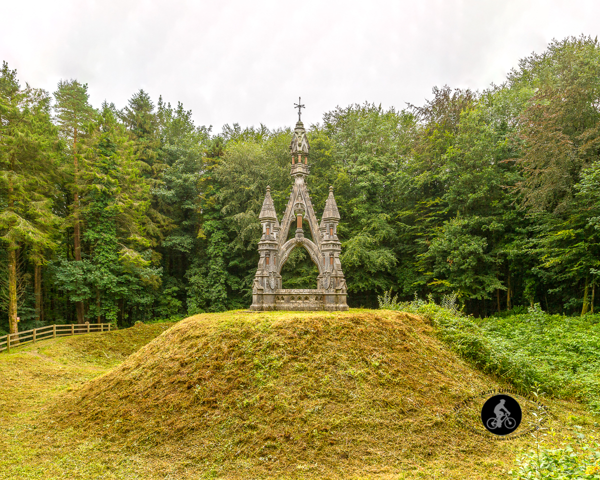 Neo-Gothic Monument - James Franklin Fuller wife and horse grave - Belleek Woods